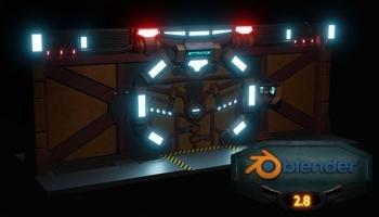 Blender 3D Model a Sci-fi Scene with Eevee